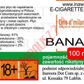 BANANA 18mg/ml poj. 100ml LIQUID INAWERA