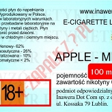 APPLE-MINT  poj. 100ml DUETY INAWERA LIQUID bez nikotyny