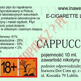 CAPPUCCINO 18mg/ml poj. 10ml BAYCA LIQUID