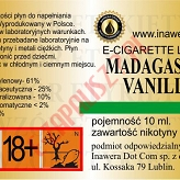 MADAGASKAR VANILLY 18mg/ml poj. 10ml LIQUID INAWERA
