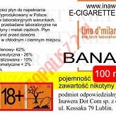 BANANA  6mg/ml poj. 100ml LIQUID INAWERA