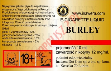BURLEY 12mg/ml poj. 10ml INAWERA LIQUID