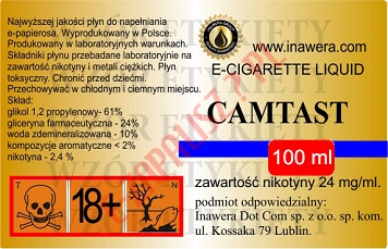 CAMTAST 24mg/ml poj. 100ml LIQUID INAWERA
