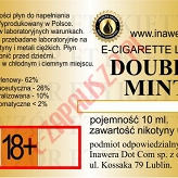 DOUBLE MINT  poj. 10ml INAWERA LIQUID bez nikotyny