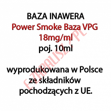 5 x POWER SMOKE BAZA 18mg/ml 10ml, komplet 5 sztuk (50ml)