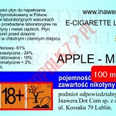 APPLE-MINT 24mg/ml poj. 100ml DUETY INAWERA LIQUID