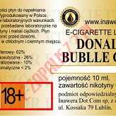 DONALD BUBBLE GUM  poj. 10ml INAWERA LIQUID bez nikotyny