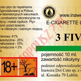 3 FIVE 18mg/ml poj. 10ml LIQUID INAWERA