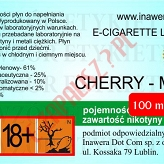 CHERRY-MINT 18mg/ml poj. 100ml DUETY INAWERA LIQUID