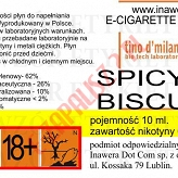 SPICY BISCUIT  6mg/ml poj. 10ml LIQUID INAWERA
