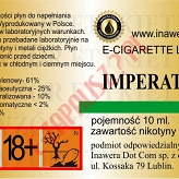 IMPERATOR 18mg/ml poj. 10ml LIQUID INAWERA