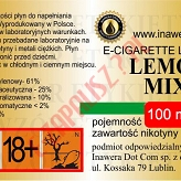 LEMON MIX 18mg/ml poj. 100ml INAWERA LIQUID