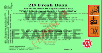 2D FRESH BAZA MIĘTOWA 18mg/ml - 100ml