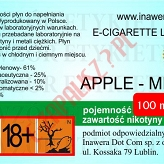 APPLE-MINT 18mg/ml poj. 100ml DUETY INAWERA LIQUID