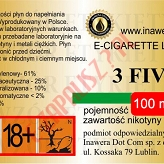 3 FIVE 18mg/ml poj. 100ml INAWERA LIQUID