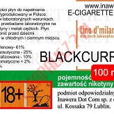 BLACKCURRANT 18mg/ml poj. 100ml LIQUID INAWERA