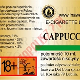 CAPPUCCINO 18mg/ml poj. 10ml INAWERA LIQUID
