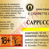 CAPPUCCINO  6mg/ml poj. 10ml INAWERA LIQUID