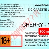 CHERRY-MINT poj. 100ml DUETY INAWERA LIQUID bez nikotyny