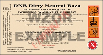Dirty Neutral Baza 100ml bez nikotyny