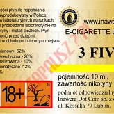 3 FIVE  6mg/ml poj. 10ml LIQUID INAWERA
