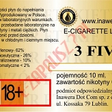 3 FIVE  poj. 10ml LIQUID INAWERA bez nikotyny