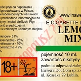 LEMON MIX 18mg/ml poj. 10ml LIQUID INAWERA