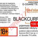 BLACKCURRANT  poj. 100ml LIQUID INAWERA bez nikotyny
