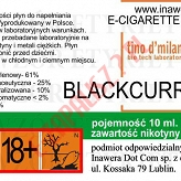 BLACKCURRANT 18mg/ml poj. 10ml LIQUID INAWERA