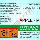 APPLE-MINT 18mg/ml poj. 10ml DUETY INAWERA LIQUID
