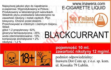 BLACKCURRANT 12mg/ml poj. 10ml LIQUID INAWERA