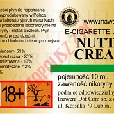 NUTTY CREAM 18mg/ml poj. 10ml LIQUID INAWERA