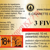 3 FIVE 12mg/ml poj. 10ml LIQUID INAWERA