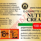 NUTTY CREAM 18mg/ml poj. 100ml INAWERA LIQUID